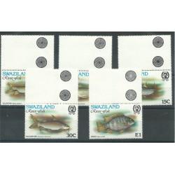 SWAZILAND 1980  PESCI - RIVER FISH 5 V MNH YVERT N 355/359 MF27313