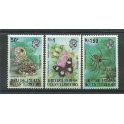 BIOT 1973 SERIE ANIMALI - FAUNA - ANIMALS WILDLIFE 3 V MNH MF27289