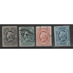 1875 GUATEMALA  ALLEGORIA 4 VAL USATI  MF53826