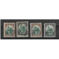 1879 GUATEMALA  QUETZAL 4 VAL USATI  MF53920