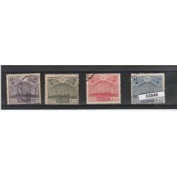 1921 GIAPPONE JAPAN RITORNO DEL PRINCIPE EREDITARIO 4 VAL USATI  MF53848