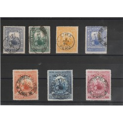 1895 PERU' RIVOLUZIONE E ELEZIONI  7 VAL USATI MF53836