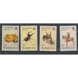 BARBUDA 1971  FAUNA  - DURER   4  VAL MNH  MF53960