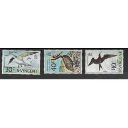 ST VINCENT 1974 FAUNA  UCCELLI BIRDS  3 V MNH MF53947