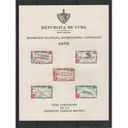 1955 CUBA  EXPO FILATELICA  1 BF  - S G  -  MF53939