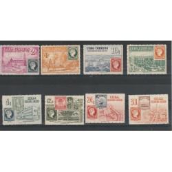 1955 CUBA  CENTENARIO DEL FRANCOBOLLO 8 VALORI  MNH   MF53927