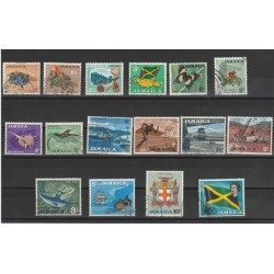 JAMAICA 1964 SOGGWETTI VARI 16 VAL USATI MF54073
