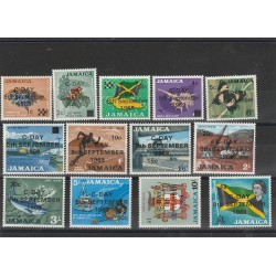 JAMAICA 1969 MONETA DECIMALE  13 VAL MNH  MF54074