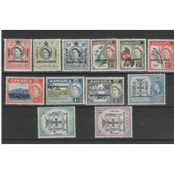 JAMAICA 1962 INDIPENDENZA 12 VAL MNH  MF540721