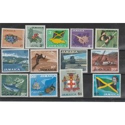 JAMAICA 1970 MONETA DECIMALE  13 VAL MNH  MF54070