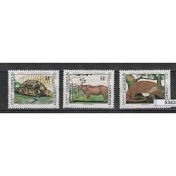 CAMERUM 1981 ANIMALI IN PERICOLO  3 VAL  MF53434