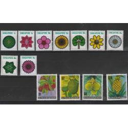 SINGAPORE 1973 FIORI E FRUTTA 13  MNH MF53995