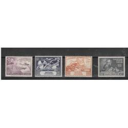 SINGAPORE  1949  UPU  4 VAL...