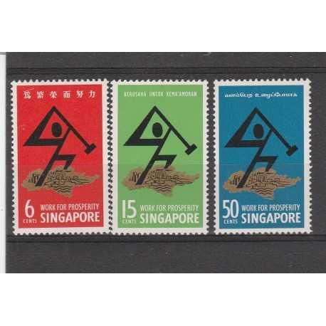 SINGAPORE 1968  GIORNATA  NAZIONALE  2  VALORI MNH MF 52244