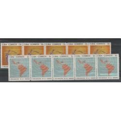 1965 CUBA DICHIARAZIONE DE L'AVANA 10V MNH MF53514