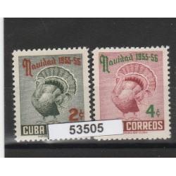 1954 CUBA NATALE 2 VAL MNH  MF53505