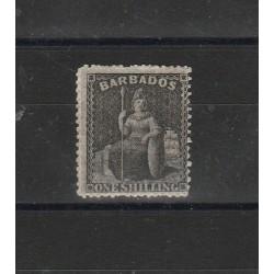 BARBADOS 1861  BRITANNIA  FIL STELLA PICCOLA 1 VAL MLH MF53978