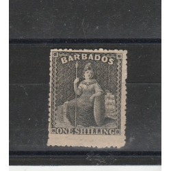 BARBADOS 1861  BRITANNIA  FIL STELLA  GRANDE  1 VAL MLH MF53981