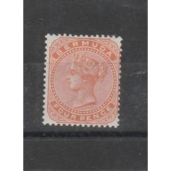 BERMUDA 1880 VICTORIA VITTORIA    UN VAL MLH  MF54028