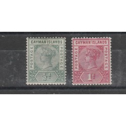 CAYMAN ISLANDS 1901 VICTORIA - VITTORIA  2 VAL MLH MF54030