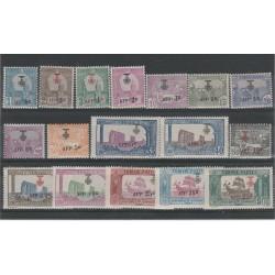 TUNISIA TUNISIE 1923 SOPRASTAMPATI  17 VAL MLH  MF54049