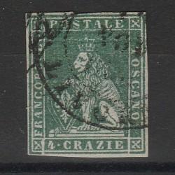 TOSCANA 1851  4 CRAZIE  VERDE SASS N 6 USATO FTO OLIVA - GAZZI  MF54043