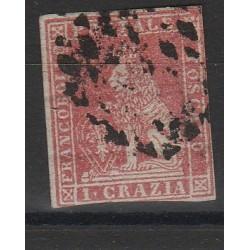 TOSCANA 1851  1 CRAZIA  CARMINIO  CHIARO  SASS N 4 USATO MF54040