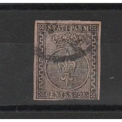 PARMA 1852 - 25 CENT  VIOLETTO N 4 USATO MF54122