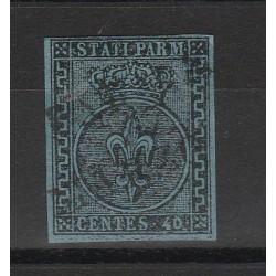 PARMA 1852 - 40 CENT  AZZURRO  N 5 USATO MF54123