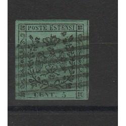DUCATO DI MODENA 1852 - 5 CENT VERDE  SASSONE N 1 USATO  MF54128