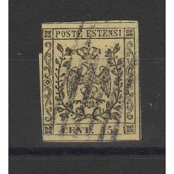 DUCATO DI MODENA 1852 - 15 CENT  GIALLO  SASSONE N 3  USATO  MF54130