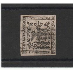 DUCATO DI MODENA 1852 - 25 CENT  CAMOSCIO CHIARO   SASSONE N 4  USATO  MF54131