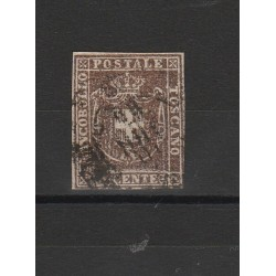 TOSCANA 1860 - 10 CENT BRUNO  SASS N 19 USATO  MF54110