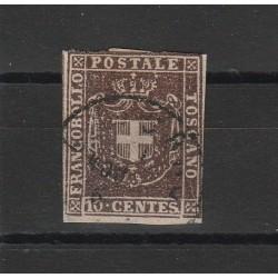 TOSCANA 1860  - 10 CENT BRUNO  CIOCCOLATO  SASS N 19 USATO  MF54113
