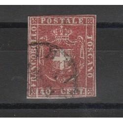 TOSCANA 1860  - 40 CENT CARMINIO CUPO SASS N 21 USATO DIENA MF54105