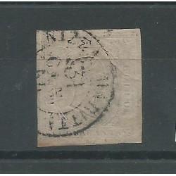 SARDEGNA 1853 -  40 CENT ROSA N 6 USATO GAZZI  MF52839