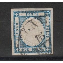 PROVINCIE NAPOLETANE 1861 - 2 GR AZZURRO USATO SASS 20 MF54119