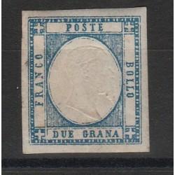 PROVINCIE NAPOLETANE 1861 - 2 GR AZZURRO CHIARO  SASS 20 MF54120