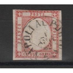 PROVINCIE NAPOLETANE 1861 - 5 GR ROSSO CARMINIO SASS 20 MF54117