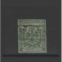 DUCATO DI MODENA 1855 5 CENT VERDE OLIVA  SASSONE N 8  USATO  MF52889