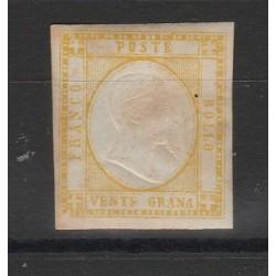 PROVINCIE NAPOLETANE 1861 - 20 GR  GIALLO  SASS 23 MLH  DIENA MF54094