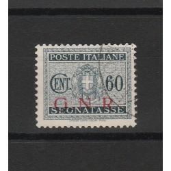 1944 REPUBBLICA SOCIALE  GNR SEGNATASSE 60 CENT TIR BRESCIA USATO SORANI  MF54118