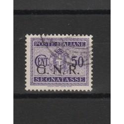 1944 REPUBBLICA SOCIALE  GNR SEGNATASSE 50 CENT TIR BRESCIA USATO SORANI  MF54098