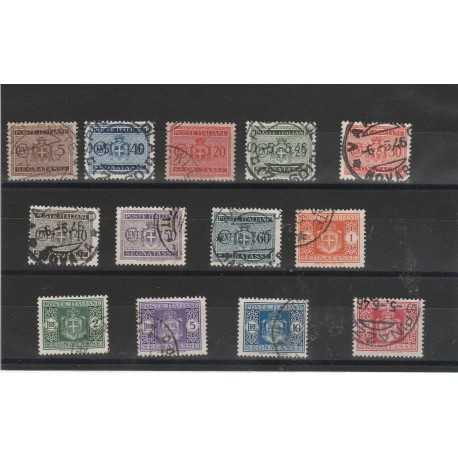 1945-LUOGOTENENZA-SEGNATASSE-SENZA-FILIGRANA-13-V-USATI-MF52752