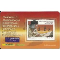 2006 TESSERA FILATELICA 5° CENT. MORTE CRISTOFORO COLOMBO MF25948