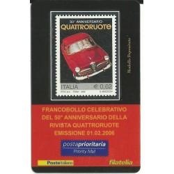 2006 TESSERA FILATELICA 50° ANNIVERSARIO QUATTRORUOTE MF25981