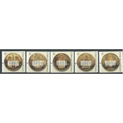 2001 VATICANO VATICAN CITY AUTOMATICI FRAMA MONETE 5 VALORI MNH MF20937