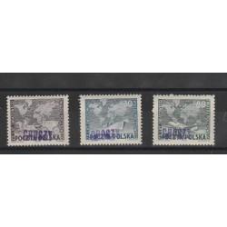 1950  POLONIA POLSKA SOPRASTAMPATI GROSZY  3 V MNH MF53760