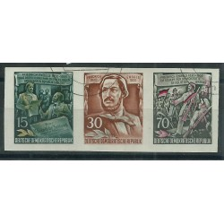 1955 GERMANIA DDR 60 ANNIV MORTE ENGELS 3 V ND USATI MF51477