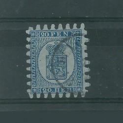 1866 / 70 FINLANDIA SUOMI STEMMA  INIF N° 8 - 1 VAL USATO MF51056